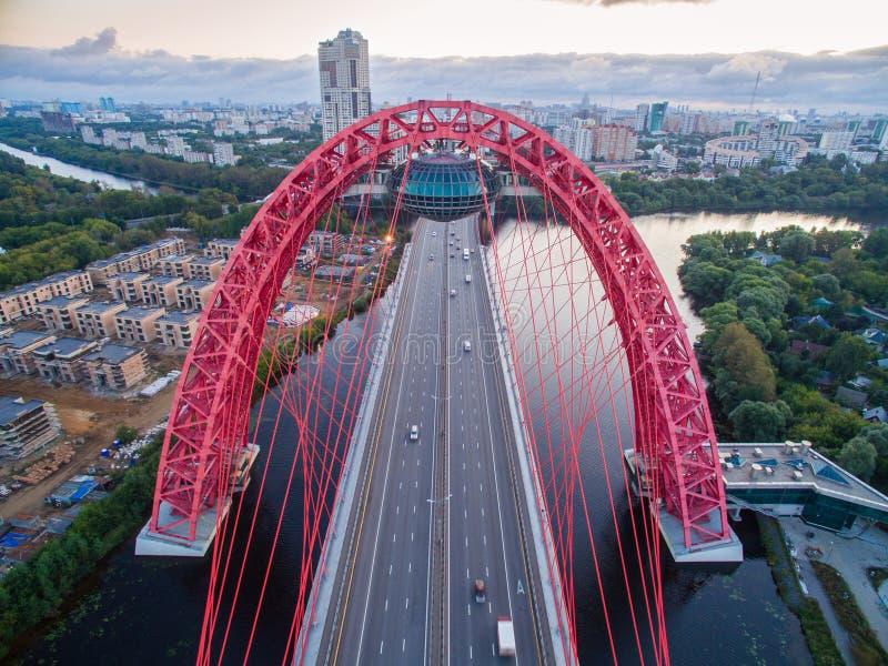bro moscow över floden fotografering för bildbyråer