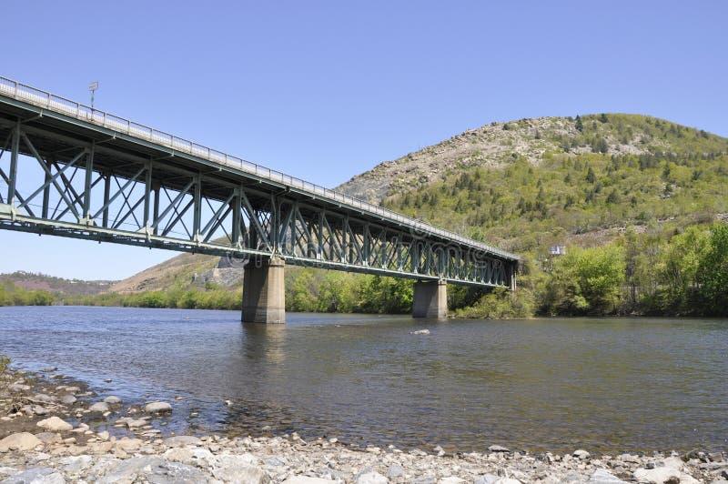 bro nära pennsylvania slatington royaltyfria bilder