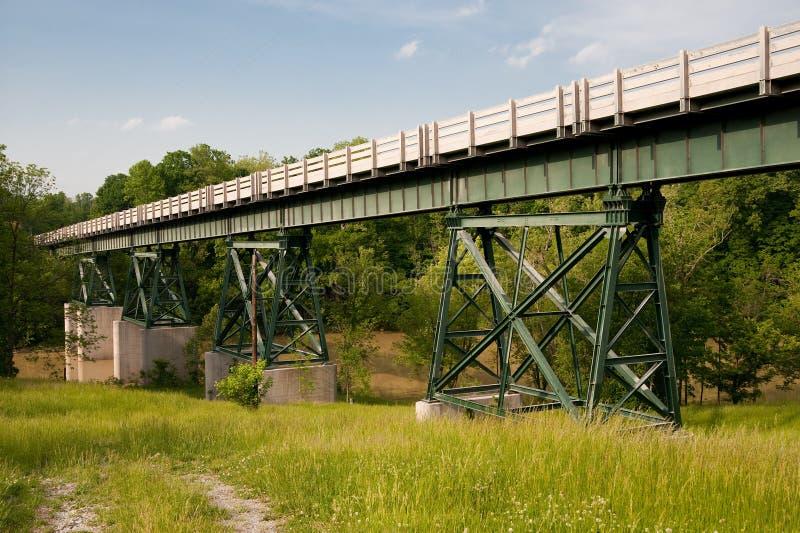 bro ohio över floden arkivfoto