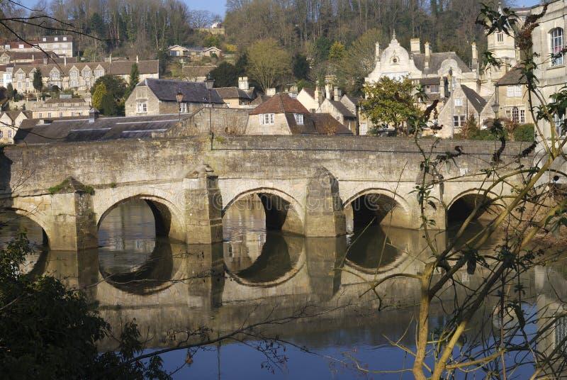Bro på Bradford på Avon. England arkivfoton