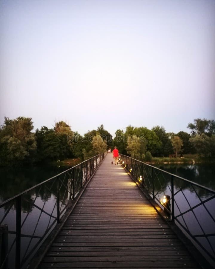 Bro på vatten arkivfoton