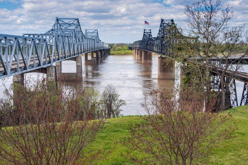 Bro på Vicksburg Mississippi arkivfoto