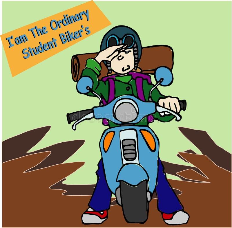 Bro rowerzysty uczeń obrazy stock
