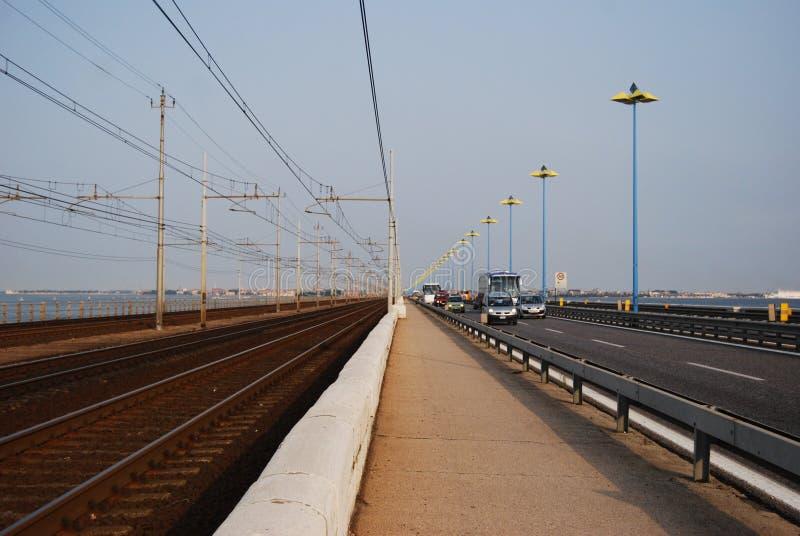 bro till venice royaltyfri foto