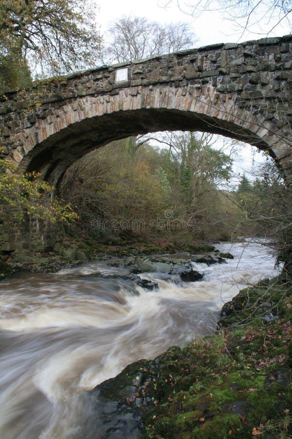 bro under vatten royaltyfria bilder