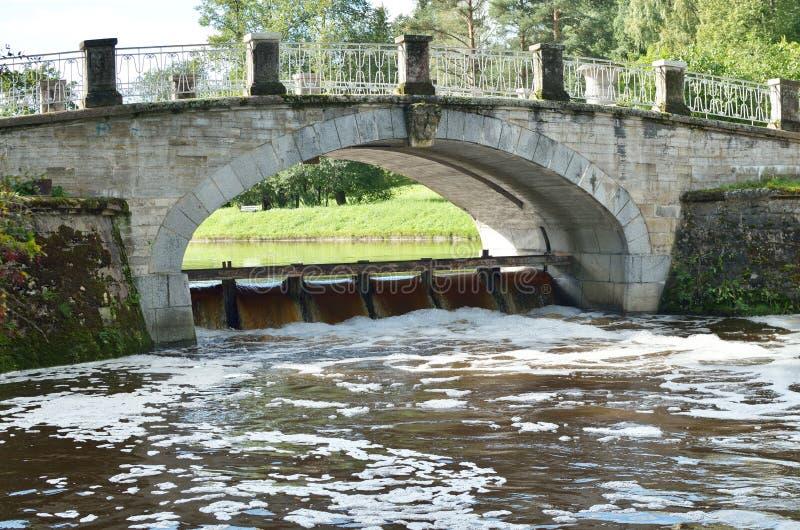 Download Bro under vattenfallet fotografering för bildbyråer. Bild av bygger - 76703989