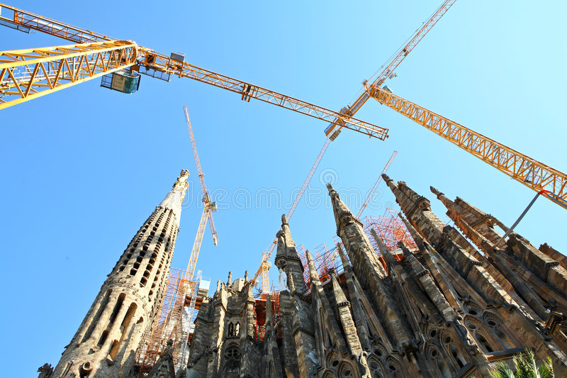 Download Broaches And Spires, Sagrada Famila In Barcelona Stock Image - Image: 5395891