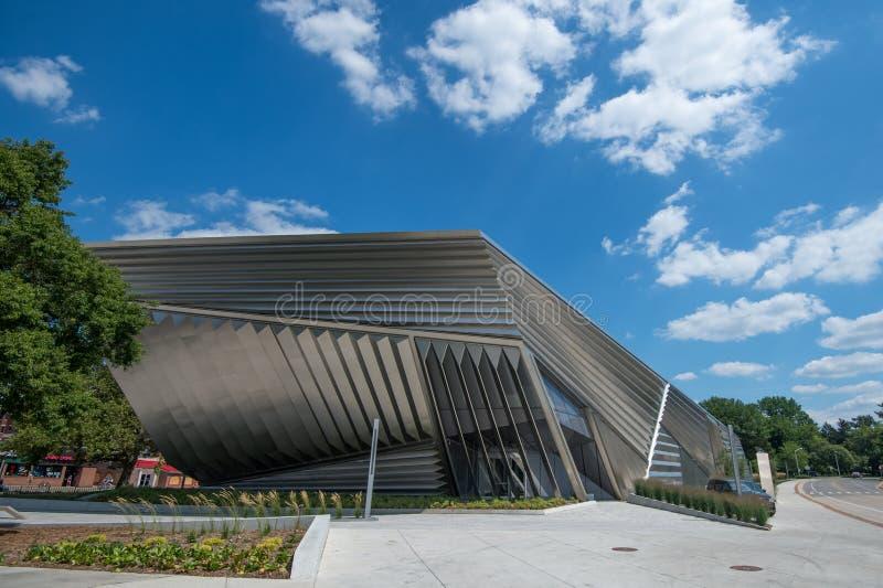 Broad Art Museum, MSU Campus stock images