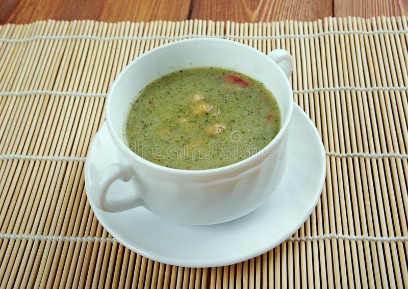 Broad Bean And Bacon Soup stock image
