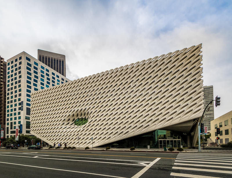The Broad contemporary art museum - Los Angeles, California, USA royalty free stock images