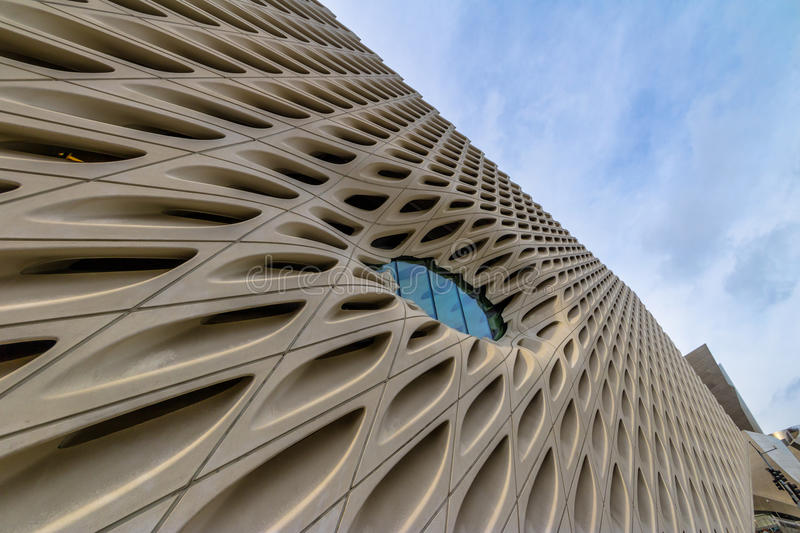 The Broad contemporary art museum - Los Angeles, California, USA royalty free stock image