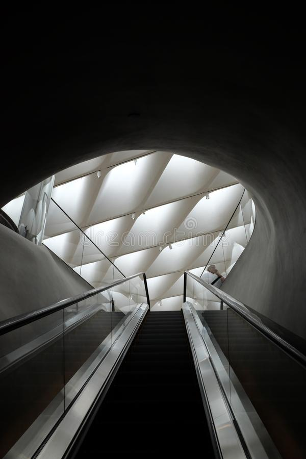 Free Broad Museum Escalator Royalty Free Stock Images - 118379009