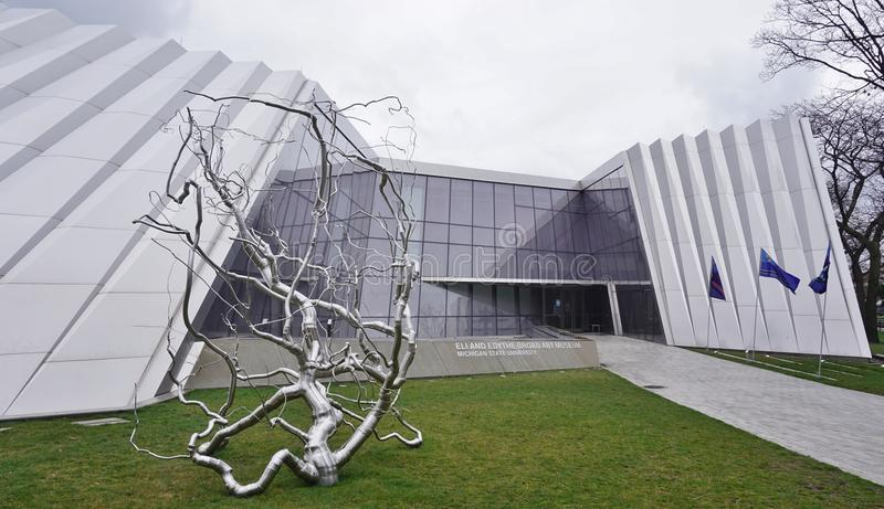 The Broad Museum at Michigan State University stock photography