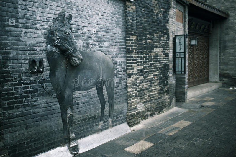 The Broad and Narrow Alley in Chengdu, China stock images