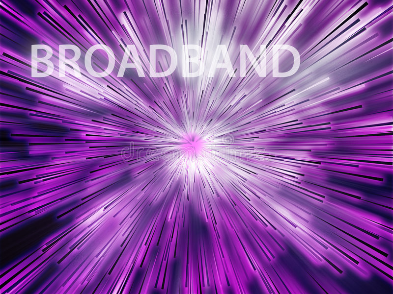 Broadband illustration. Showing information transfer and flow stock illustration