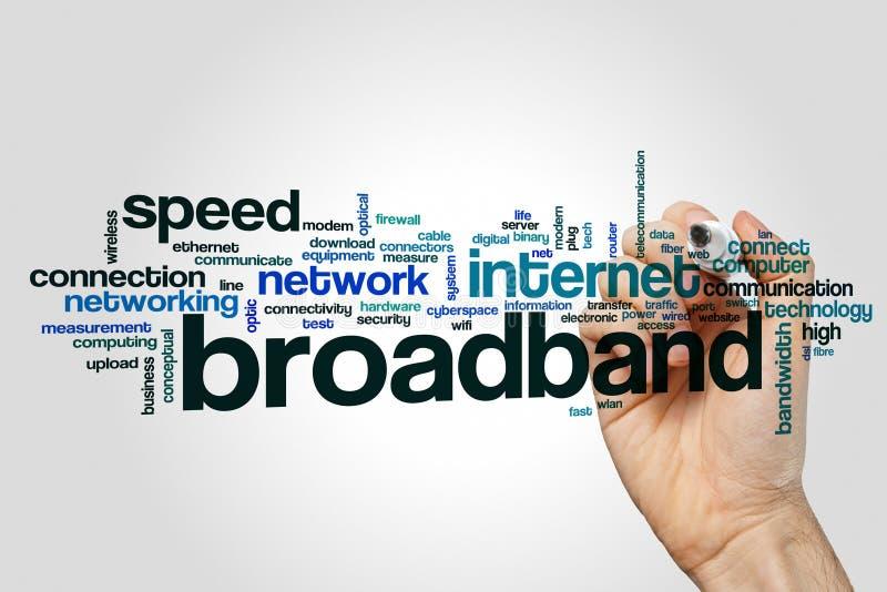 Broadband word cloud royalty free stock photo