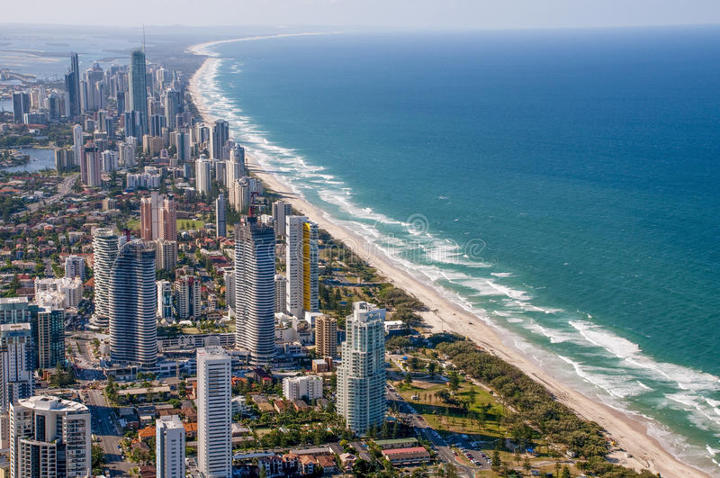 Broadbeach Gold Coast royaltyfri fotografi