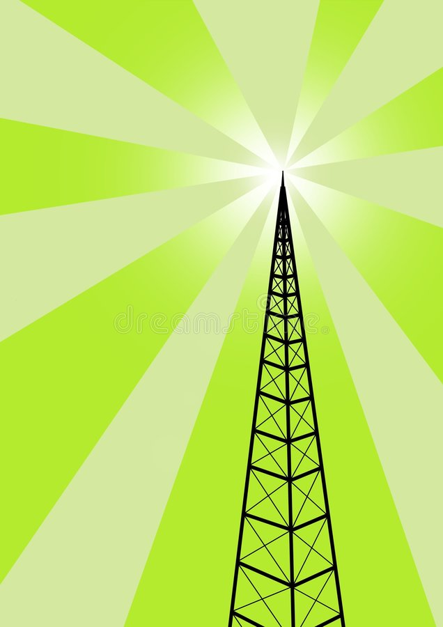 Broadcast. Illustration of a broadcast antenna. also available in blue royalty free illustration