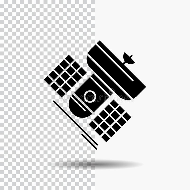 Broadcast, broadcasting, communication, satellite, telecommunication Glyph Icon on Transparent Background. Black Icon. Vector EPS10 Abstract Template vector illustration