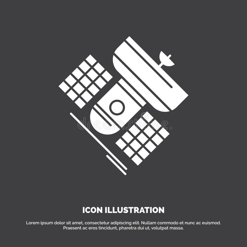 Broadcast, broadcasting, communication, satellite, telecommunication Icon. glyph vector symbol for UI and UX, website or mobile. Application. Vector EPS10 stock illustration