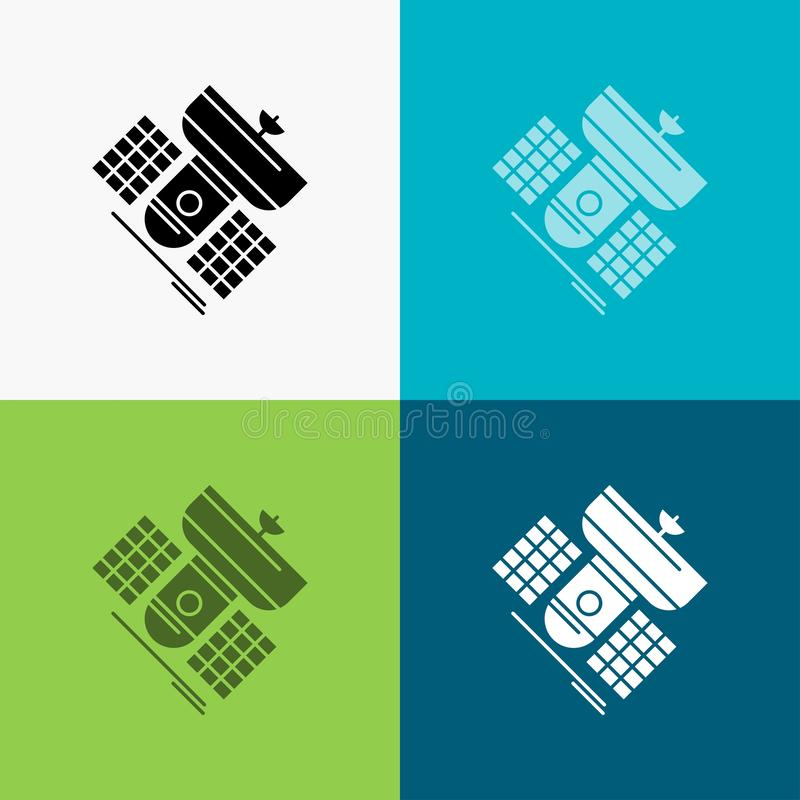 Broadcast, broadcasting, communication, satellite, telecommunication Icon Over Various Background. glyph style design, designed. For web and app. Eps 10 vector royalty free illustration