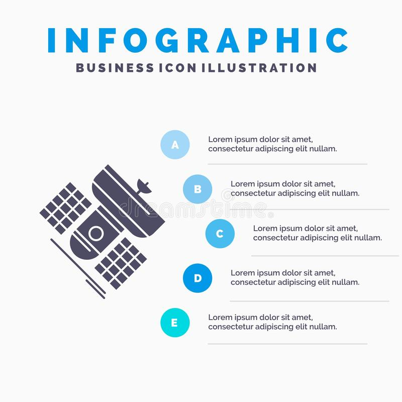 Broadcast, broadcasting, communication, satellite, telecommunication Infographics Template for Website and Presentation. GLyph. Gray icon with Blue infographic vector illustration