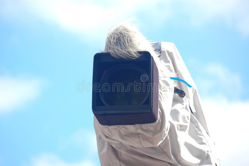 Download Broadcast Camera With Cover Royalty Free Stock Photo - Image: 9128575