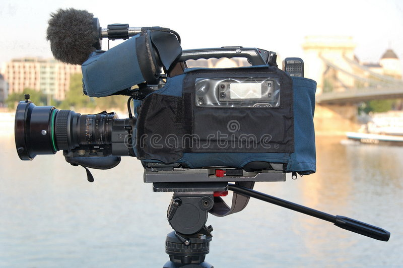 Broadcast Quality Camera Royalty Free Stock Photos