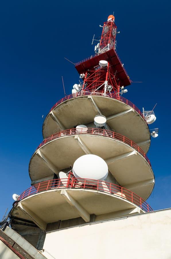 Broadcast Satellite Large Antenna royalty free stock photography