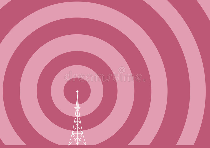 Download Broadcast tower stock vector. Illustration of high, space - 6635670
