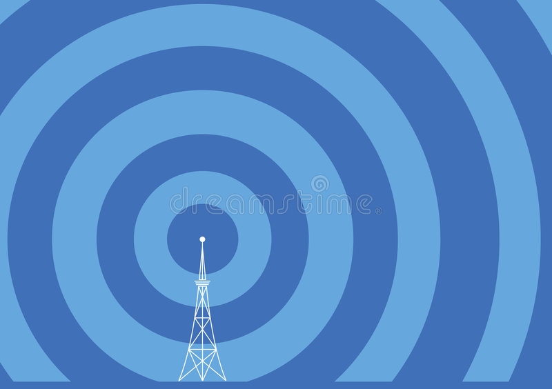 Broadcast tower illustration stock illustration