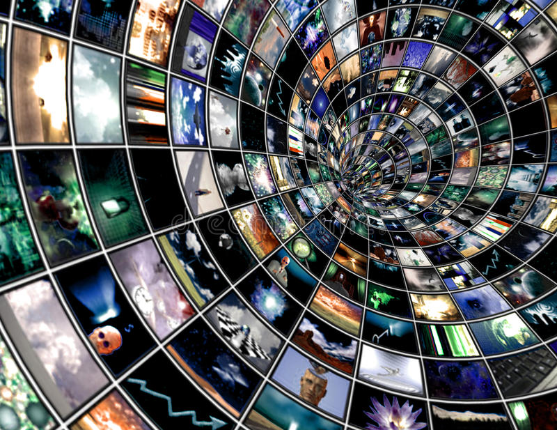 Download Broadcast Tunnel stock illustration. Image of black, object - 12407936