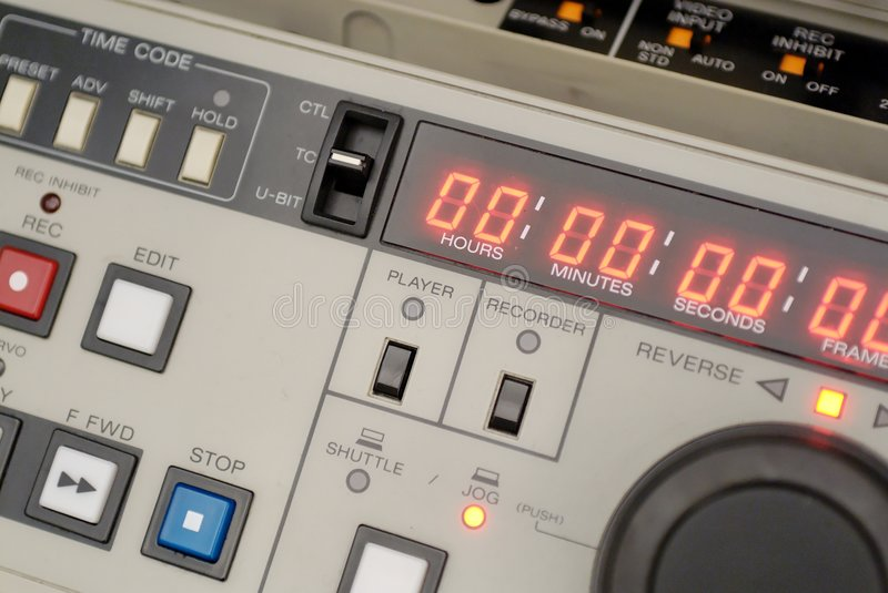 Download Broadcast vcr recorder stock image. Image of broadcast - 1887449