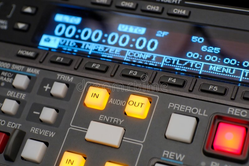 Broadcast vcr recorder, beta digital stock image