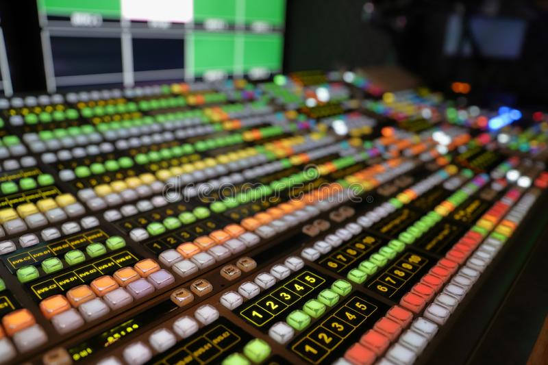 Broadcast Video Production Switcher royalty free stock images