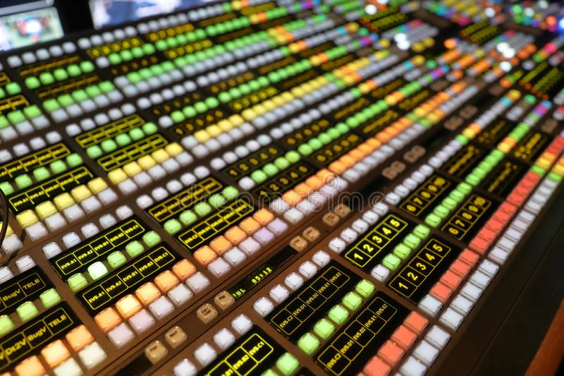 Broadcast Video Production Switcher royalty free stock photography