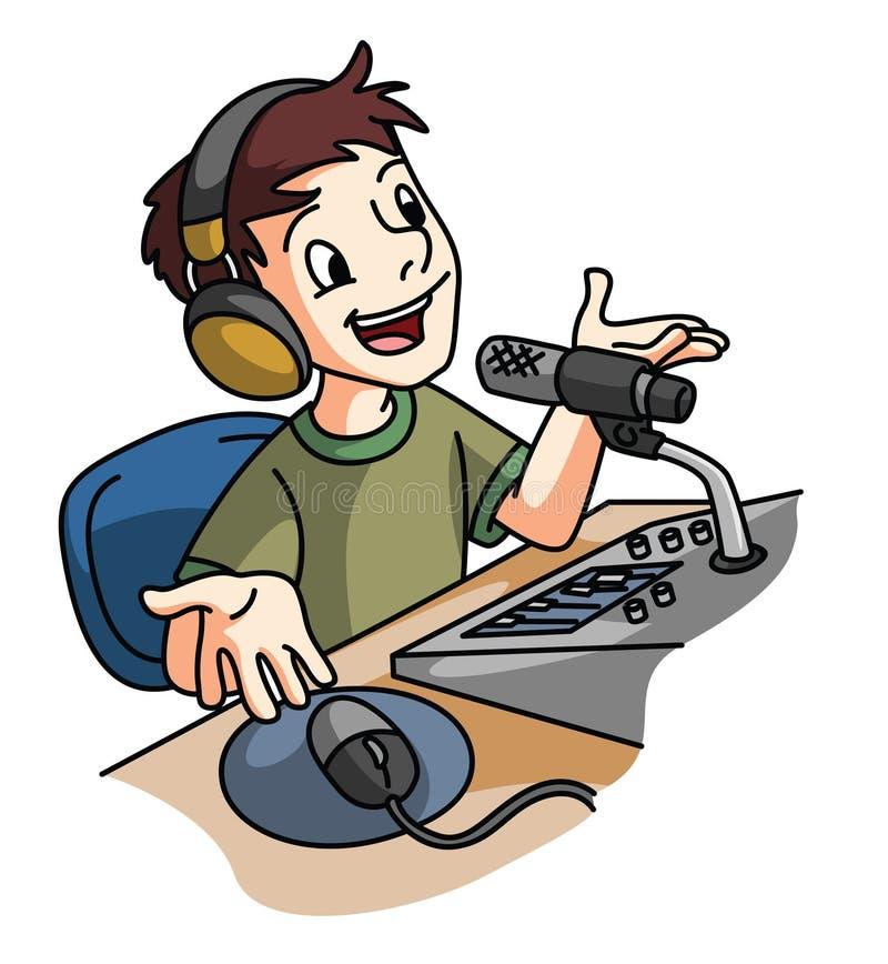 Broadcaster stock illustration