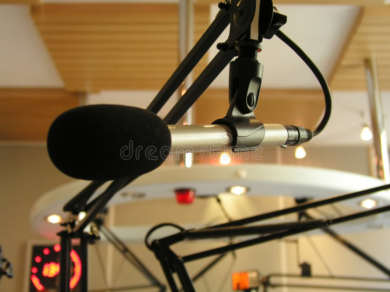 Broadcasting Microphone Royalty Free Stock Photography