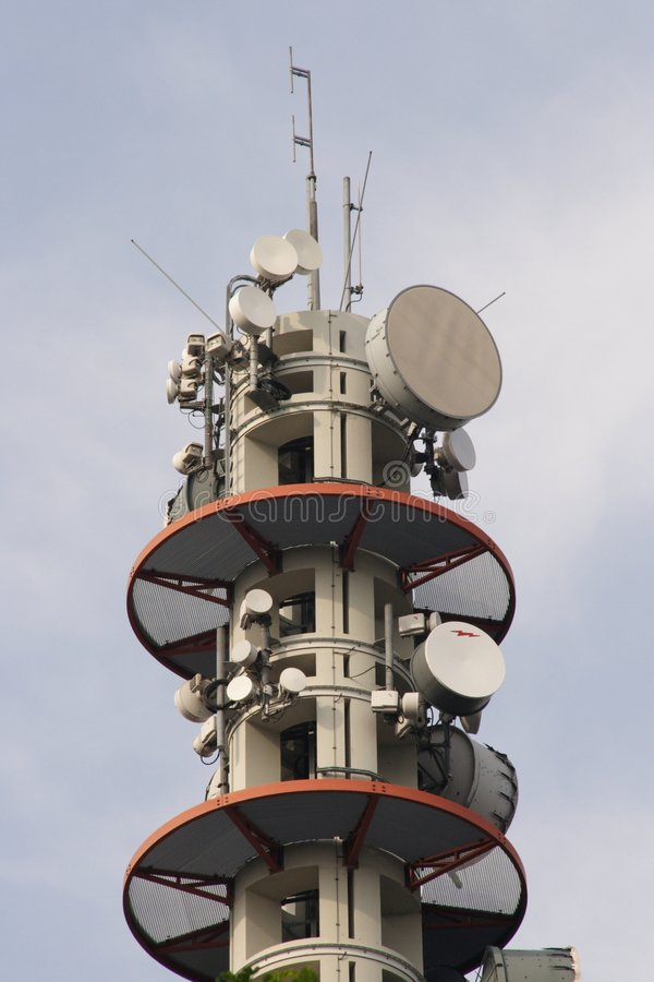 Download Broadcasting Tower stock image. Image of signal, transmit - 194963