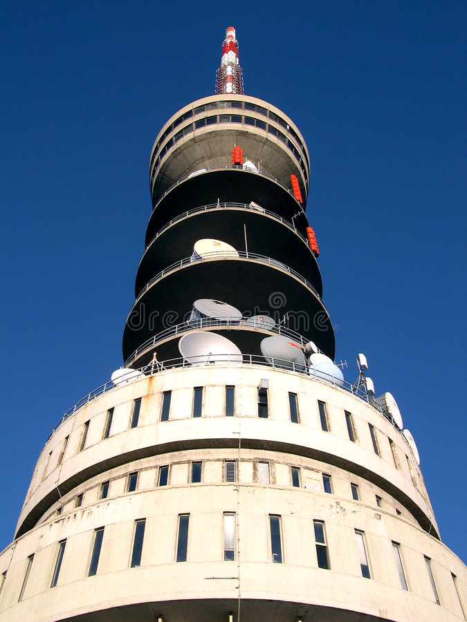 Broadcasting tower royalty free stock images