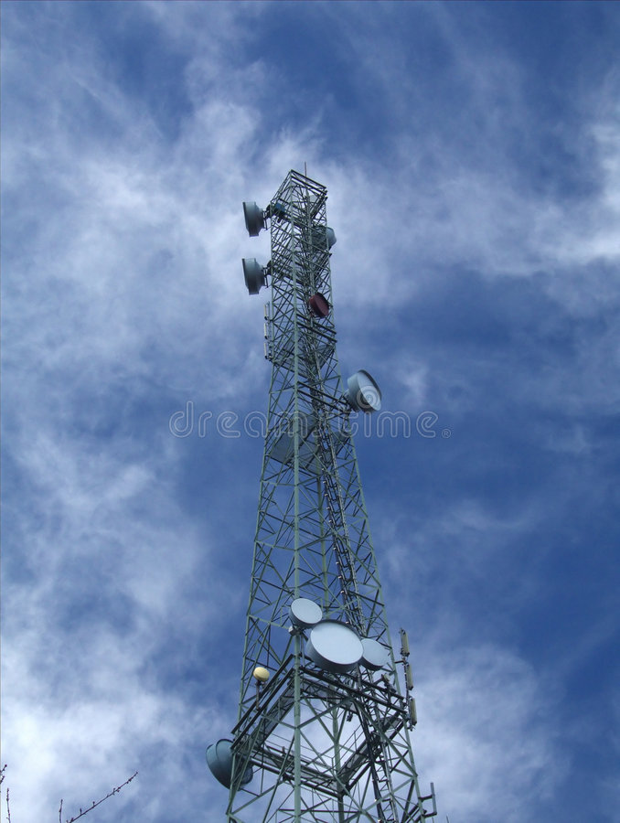 Broadcasting tower royalty free stock photos