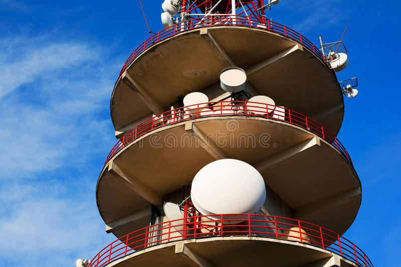 Download Broadcasting Tower And Antennas Stock Photo - Image: 30230170
