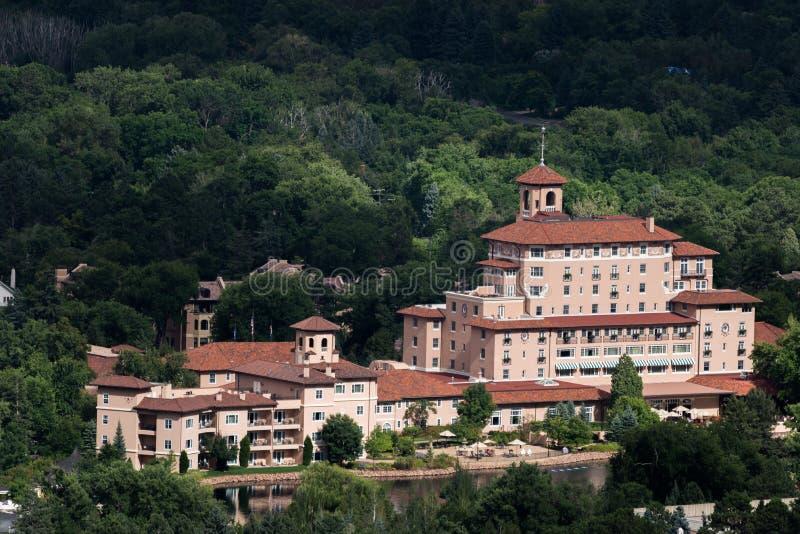Broadmoor旅馆和手段科罗拉多斯普林斯 库存照片