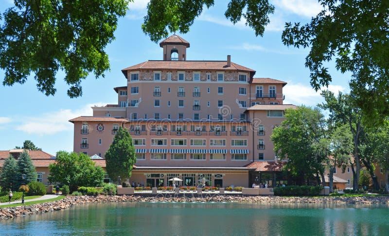 Broadmoor Hotel waterfront, Colorado Springs, Colorado royalty free stock images