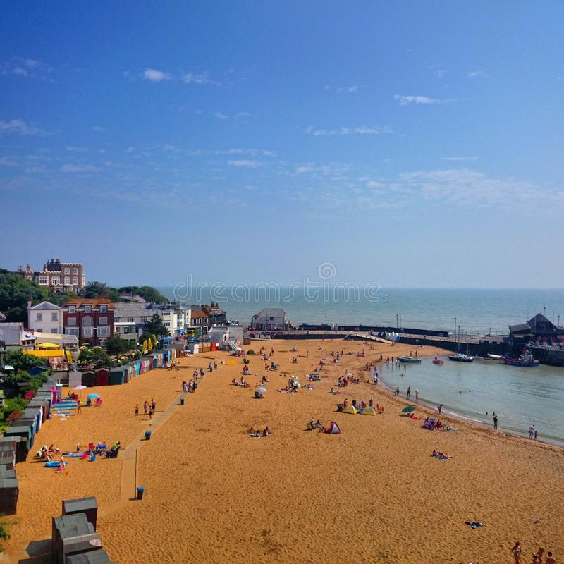 Broadstairs海滩,英国 库存照片