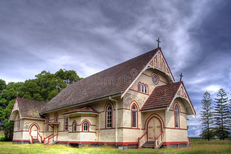 Broadwater catholic church stock image