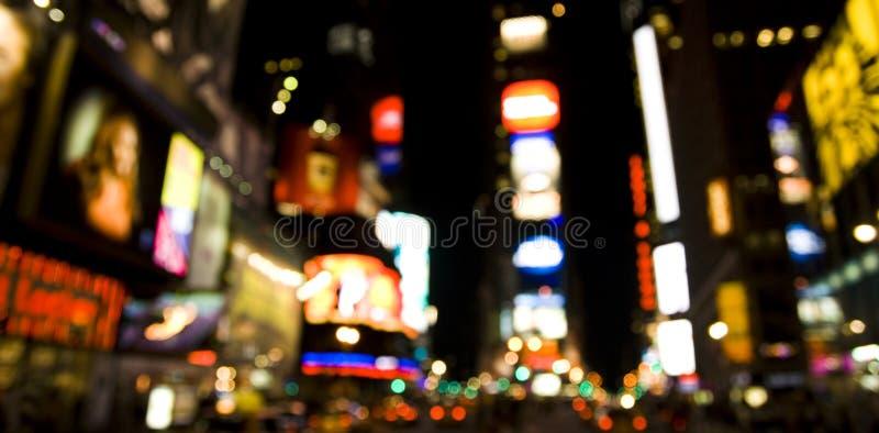 broadway晚上 免版税库存照片