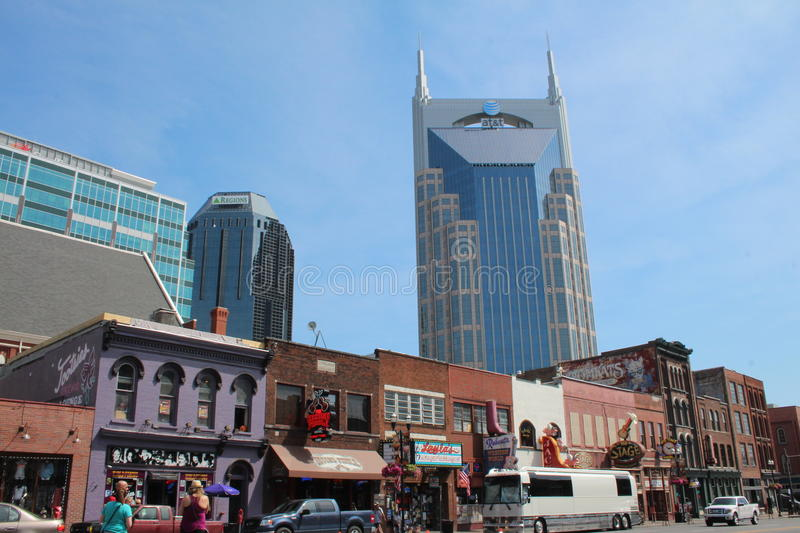 Broadway à Nashville, Tennessee images stock
