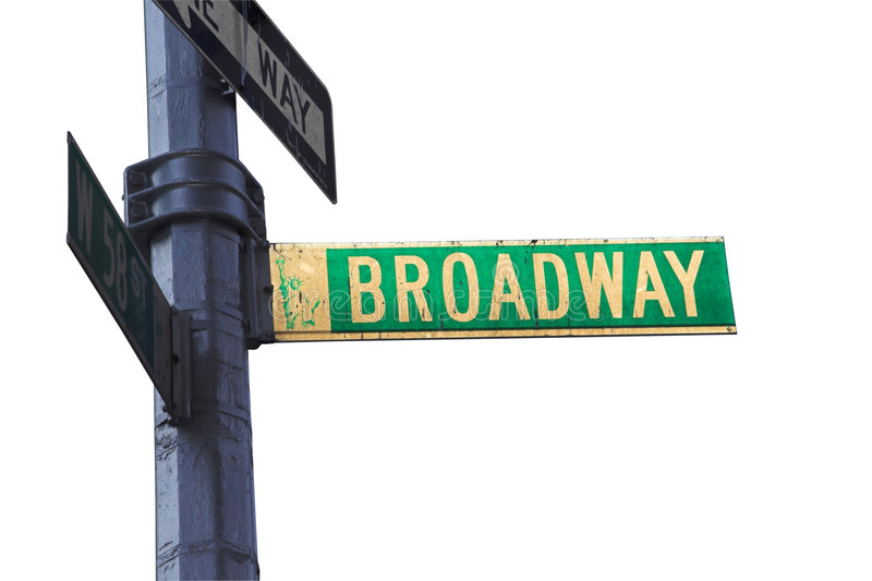 broadway σημάδι στοκ φωτογραφίες