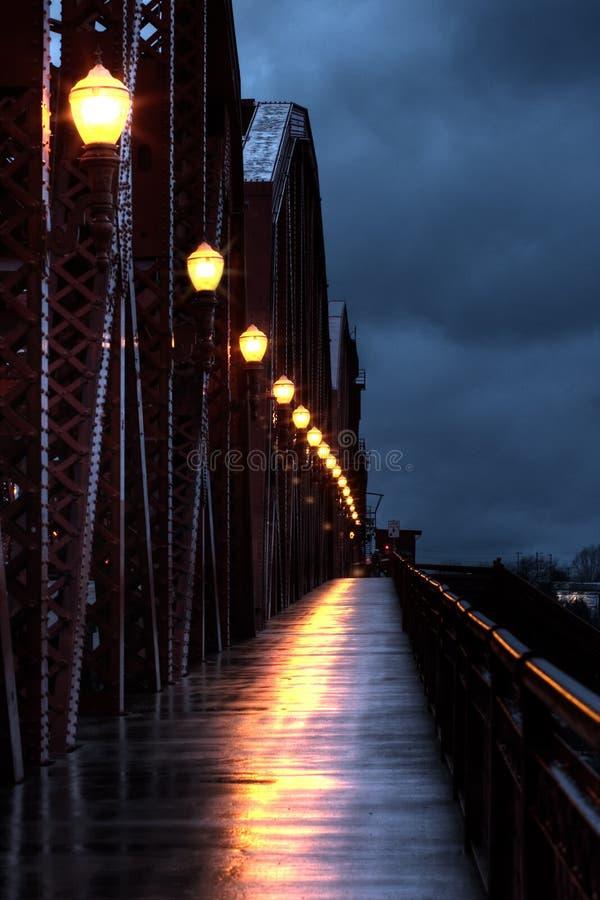 Broadway Bridge at 6 am stock image